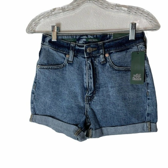 Wild Fable High Rise Rolled Cuff Denim Shorts